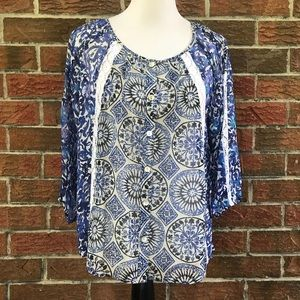 NWT Anthropologie Fig & flower blouse
